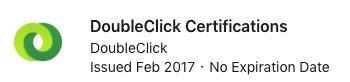 Certification DoubleClick